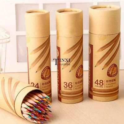 Color Pencil Stationery Set Wooden Artist Drawing Painting Colored TXSU