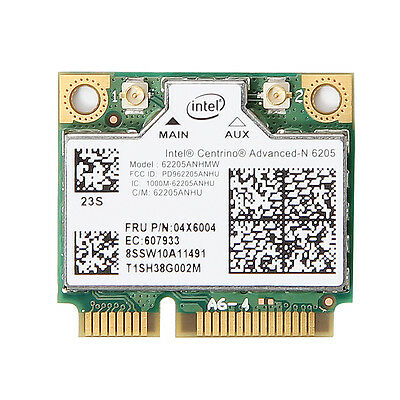 300Mbps Intel Dual Band 6205 62205ANHMW PCI-E Wifi Wireless Card FRU: 60Y3253
