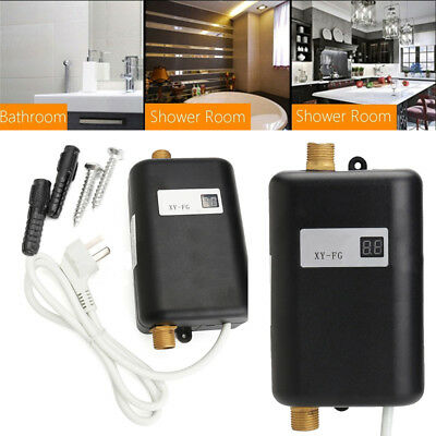 Electric Tankless Instant Hot Water Heater System Portable Heating Shower Set