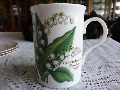 Coffee Mug Lily Of The Valley Fine Bone China Crown Trent England