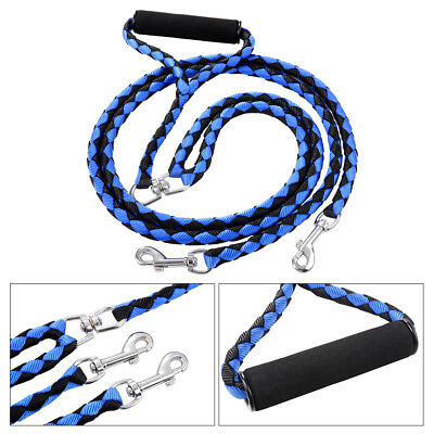 Duplex Pet Coupler Twin Double Lead Two Dogs Walking Safety Leash with Handle