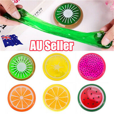 Creative Fruit Crystal Clay Putty Jelly Slime Plasticine Mud Educational Toy BO