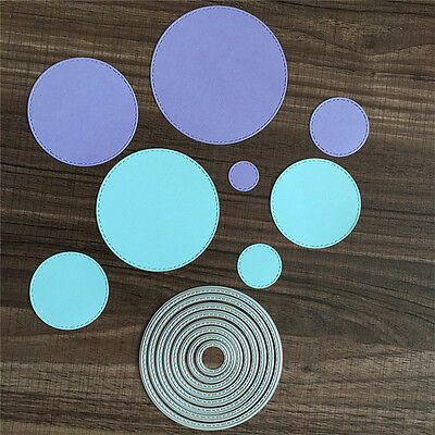 Small Round Cutting Dies Stencil DIY Scrapbook  Album Paper Card Embossing Craft