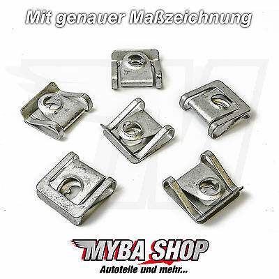 51718218323 10x Set Motor Skid Plate Metal Clips for BMW 8d0805960