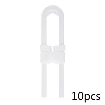 10x Sliding Safety Lock Cabinet Drawer Baby Proof for Knobs and Handles FA293