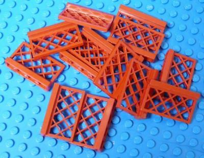LEGO Fence 1 x 4 x 2 Red Assorted x12PC