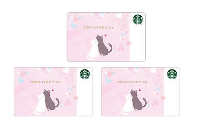 STARBUCKS Korea 2018 Valentine's Day Card Set Limited Edition