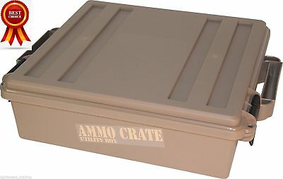 Military Ammo Crate Utility Box Stackable Ammunition Can, Double Padlock, O-ring
