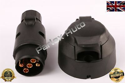 12V (5 Pin) Plastic Plug Socket for Trailer/Car/Caravan