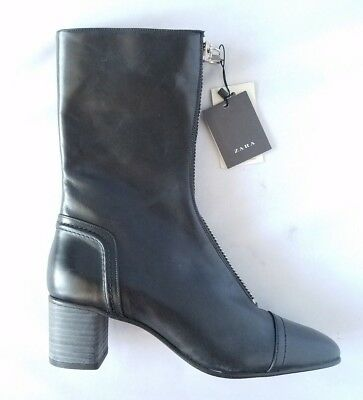 412dbb34463 NWT ZARA WOMEN'S Ankle Boot Black Leather RIGHT FOOT ONLY Amputee Size 7.5  / 38