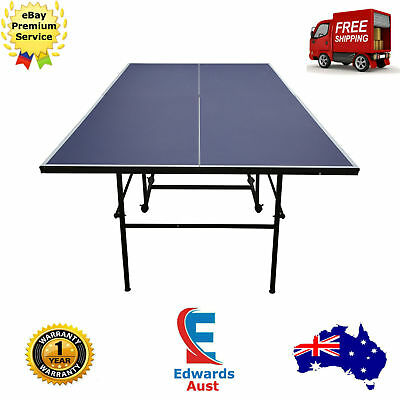 Table Tennis Folding Portable Pro Size Ping Pong Family Blue Sport Pool Paddle