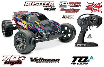 Traxxas 37076-4 Rustler VXL 2WD Brushless Rock and Roll TSM Stabilitätssystem