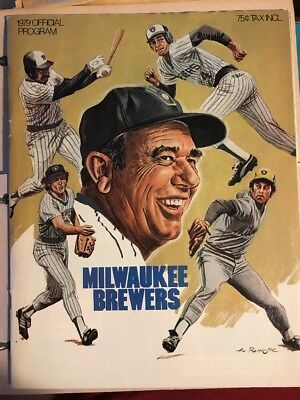 Milwaukee Brewers Official 1979 Program Scorecard Vs Seattle Mariners