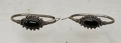 Antique Vintage Sterling Silver Hallmarked Native American Style Mexican Earring