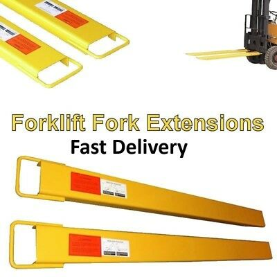 Heavy Duty Forklift Fork Extensions - Available in many sizes **Free Delivery**
