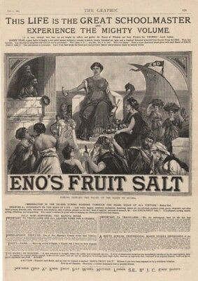 1885 Eno Fruit Salt Medicine Roman Court Sailboat Fruit Quack Ad12365
