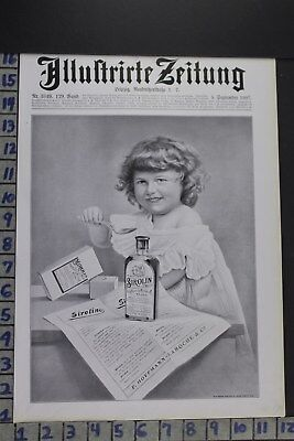 1907 Medical Sirolin Childrens Quack Medicine Bottle Vintage Ad Ed029