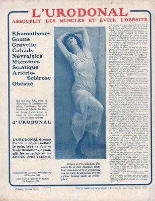 1913 Lurodonal Medicine Health Woman Model Dancer Ad 12363