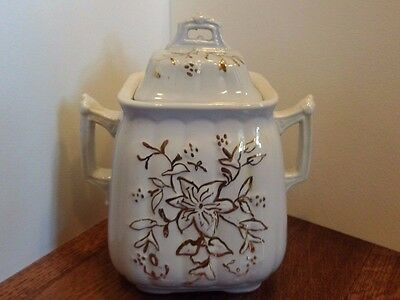 Ironstone China Staffordshire Corn W&E Burslem Sugar Bowl 1864-1891 Gold England