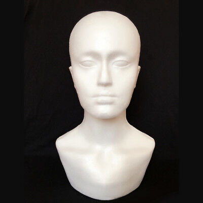 JQ_ Male Foam Mannequin Head Model for Showcase Display Glasses Hat Wig Scarve