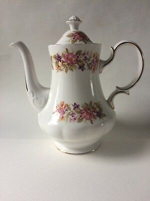 """COLCLOUGH """"WAYSIDE"""" Mixed Floral Large Coffee Pot"""