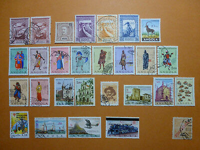 Lot 6169 Timbres Stamp Pa + Divers Congo Ou Cabinda Angola Annee 1898-1980