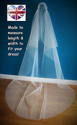 1 Tier Juliet Bridal Veil *Chapel Length*Joganunay Bespoke veil*Cut Edge*