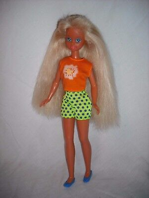 "Vintage 80's-90's Mattel Barbie's Sister Stacie 9"" Doll, Redressed"