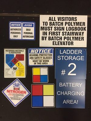 Lot of Warning/Safety Signs and Stickers  Approx.1200