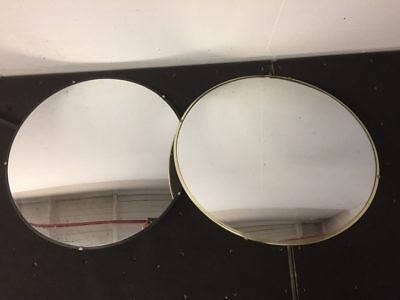 "Lot of 2 Convex Fish Eye Mirrors 26""D with Mounting Brackets"