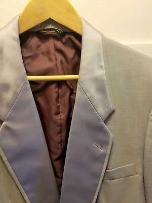 Vintage '80s Men's After Six Gray Tuxedo Jacket Blazer Dynasty Collection