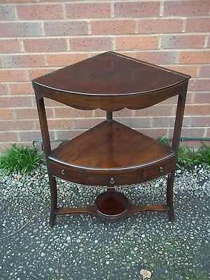 Regency Mahogany Corner Washstand Table