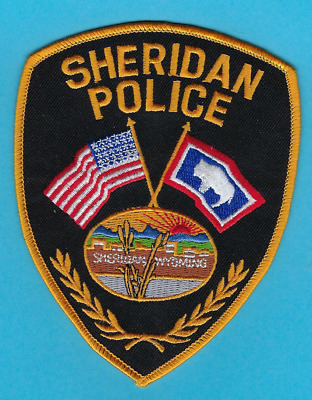 Sheridan Police Department Patch ~ Wyoming ~ Very Nice Artwork & Colors ~ L@@k