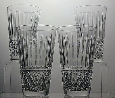 "Waterford Crystal ""maeve"" Cut Glass Heavy Lead Crystal Tumblers Set Of 4"