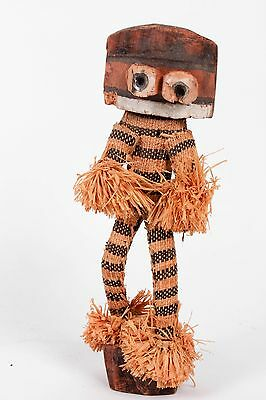 Antique African Grass Woven Statue Figure Doll