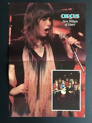 """Ann Wilson Of Heart 2-page Centerfold 11X17"""" Has 2 Pin Holes"""