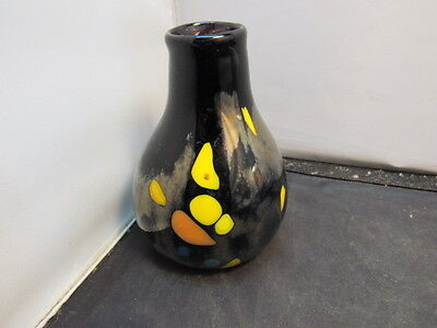 art glass signed vase