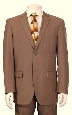 New Mens TAN BEIGE KHAKI MOCHA SUIT Italian Design Italy 2 Button