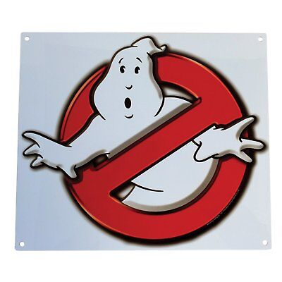 Tin Sign - Ghostbusters - No Ghosts Logo Metal Sign New Licensed 408952