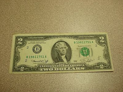 1976 - USA $2 bill - two dollar note - circulated - B19811751A