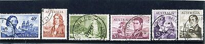 1966 Australian Decimal Navigators Set Of 6 Fine Used To $4 Value