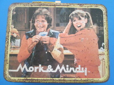Mork And Mindy 1979 Thermos Brand metal lunch box vintage