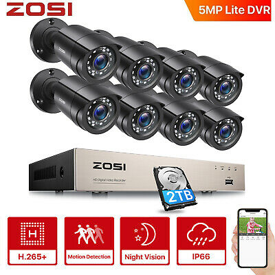 ZOSI 1080P HDMI 4CH/8CH DVR Home Outdoor CCTV Security Camera System Hard Drive