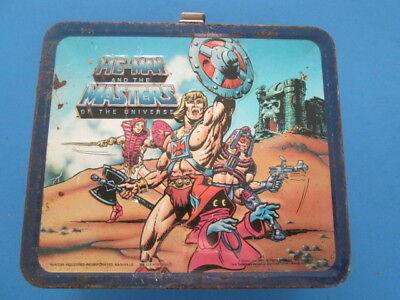 He Man And Masters Of The Universe 1984 Aladdin metal lunch box vintage