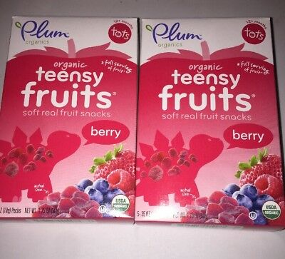 Plum Organics Teensy Fruits Soft Real Fruit Snacks 4 Boxes Of 5