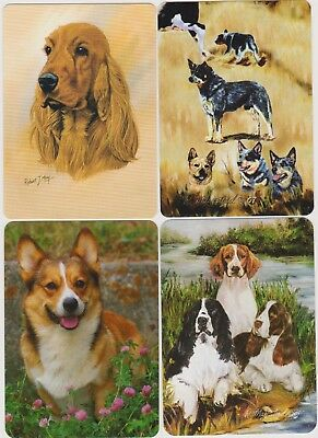 Swap/Playing Cards ~ *$1 SPECIAL* ~ BEAUTIFUL DOGS ~ Modern Wides x 4
