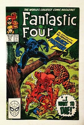 Fantastic Four #311 Re-Intro Of Black Panther, Marvel 1988, Nm-9.2, Uncertified