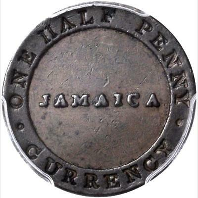 Jamaica 1/2 Penny William Smith Token, Kingston, PCGS XF 45, Pridmore - 133