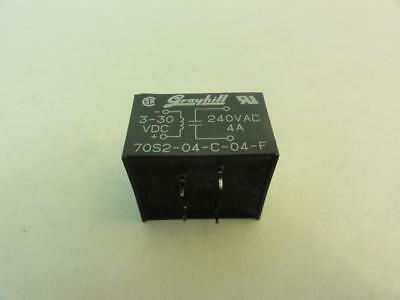 147707 Used, Grayhill 70S2-04-C-04-F Solid State Relay, 4A, 240VAC, 3-30VDC