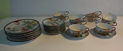 C114 Service de table asiatique tasse sous tasse assiettes